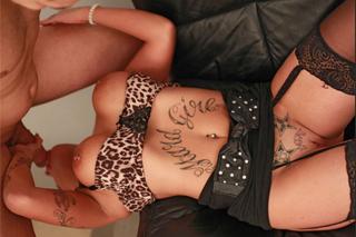 Tattooed Spanish sexbomb Jenny Hard beautifully fucks!