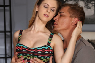 Busty British babe Stella Cox in romantic intercourse with Czech lover