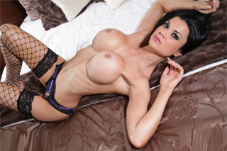 Busty Jasmine Jae fucks with a BF before going to a party