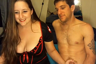 Busty nurse sexually frolics on webcam!