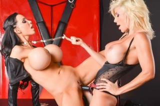 Puma Swede and Amy Anderssen: Lesbian sex with a strap-on dildo