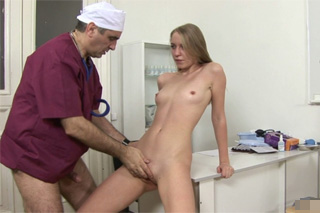 Russian gynecologist fucking a young housewife Merry!