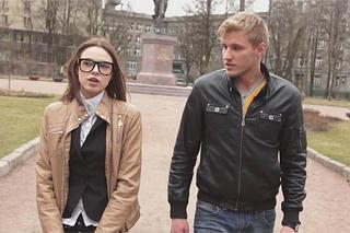 Russian university student fucks a spectacled classmate! (Carmen Fox)