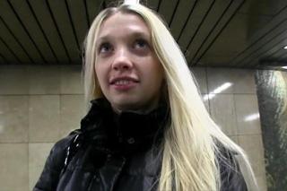 Slovak blonde naomi nevena takes facial cumshot 7