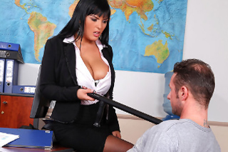 Busty police officer Jasmine Black gets fucked!