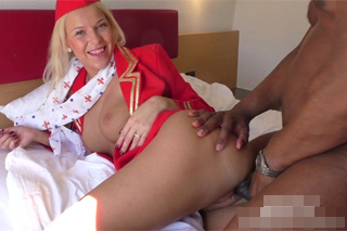 Sexual training of flight attendant Karol L - interracial porn