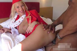 Sexual training of flight attendant Karol L - interracial porn