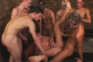 Bunch of Czech dudes bang their screaming friends gay porn