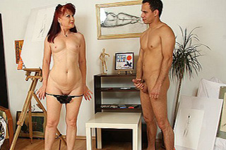 Old artist fucks with a young model - Czech porn