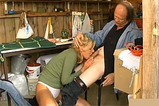 Old farmhand fucking the young village teacher's ass!