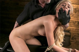 Blonde Lyra Law gets tied up and tortured!
