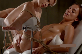 Bound Dominica C having orgasmic massage!
