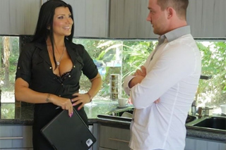 Seductive real estate agent Romi Rain sells a house!