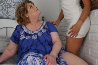 Tamara B and Shanna: Lesbian mature seduces beautiful daughter of her friend