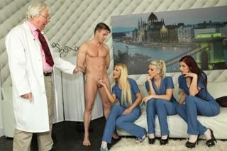 Tři zdravotní sestřičky a jeden šťastný penis! (Blanche Bradburry, Cherry Kiss a Kira Sunset)
