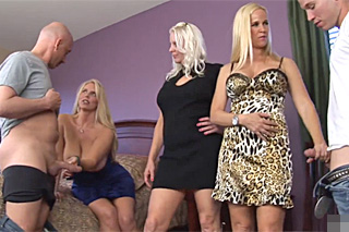 Three mature horny neighbors are fucking!