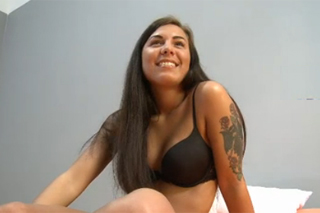 Smiling Czech beauty Brazillia trying anal on the casting
