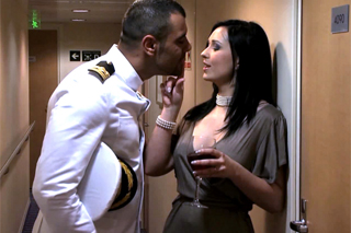 Passionate Angell Summers fucking a ship captain.