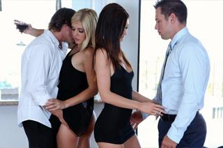 Passionate exchange of wives! (Kendall Karson, Carmen Monet)