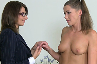 Rookie Czech model discovering a secret of lesbian sex at a casting