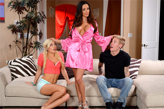 Mature neighbor in a threesome with a student couple! (Ariella Ferrera, Charli Shiin and Richie Black)