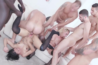 Perverse orgy with Brittany Bardot and Jurek Del Mar!