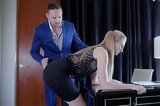Twisted boss banging his submissive secretary hard!